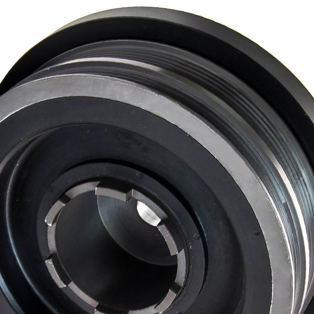 CRANKSHAFT PULLEY KIT VIBRATION DAMPER For BMW E46 E60 E81 E87 E90 M47N 320D AMI